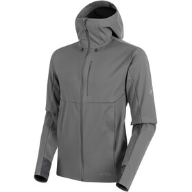 Mammut Ultimate V SO Capuchon Jas Heren, titanium/phantom melange